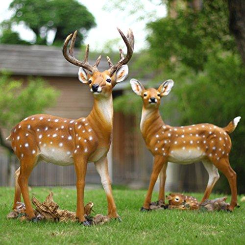 Garden Animal Statue - Outdoor Decor for Garden, Figurine Ornaments Decorations Deer Family Resin Crafts Funny Statue Handwork Handicrafts H-2020-4-9 (Color : Family)