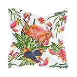 Ahomy bufanda cuadrada para mujer, 60 cm, diseño de pájaro flamenco tropical