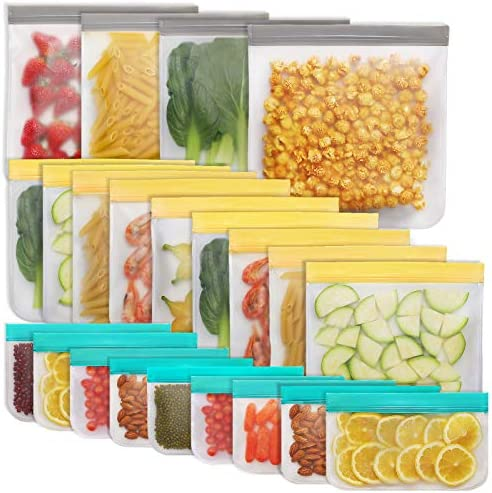Jagrom 22 Pack Reusable Storage Bags 4 Gallon 9 Sandwich Lunch Bags 9 Small Kids Snack Bags product image