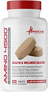 Metabolic Nutrition Amino 4500 Tablets Maximum Potency Hydrolyzed Amino Acid Complex 4500mg (180)