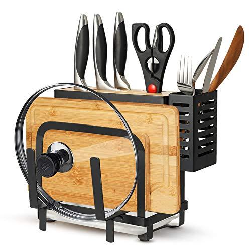 Kitchen Knife Holder, 4 In 1 Knife/Cutting Board/Pot Lit...