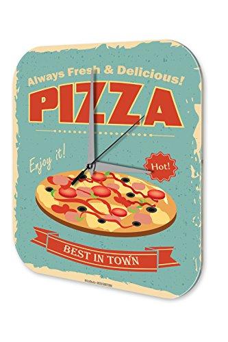 Orologio da parete Alimentare Ristorante Città migliore pizza Plexiglas