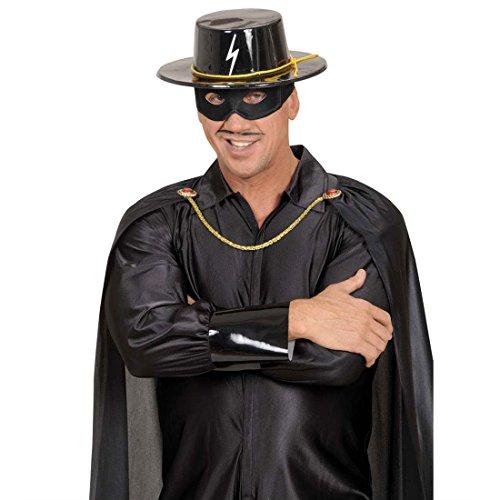 NET TOYS Chapeau de Zorro Noir Chapeau Zorro Noir Chapeau Espagnol Chapeau de Bandit Zorro déguisement Accessoire Bandit héros