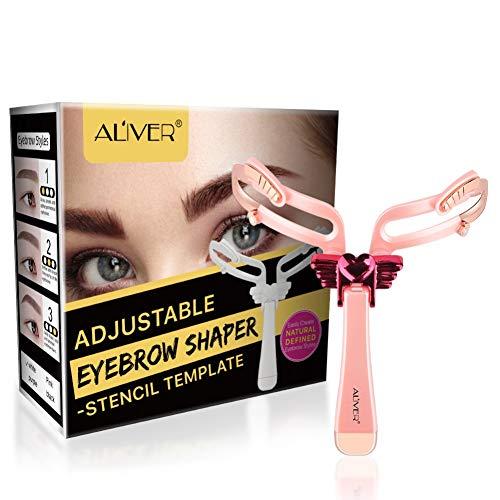 Symeas Professionnel 3 en 1 Easy Eye Brow Shaper Sourcils Grooming & Styling Réglable Eyebrow Shaper Stencil Kit réutilisable de mise en forme des sourcils Outil de modèle de sourcil portable