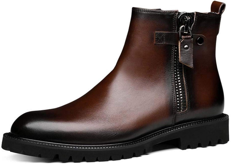 f30e303c313 HYLFF Chelsea Boots,Men New Men Leather Dealer Dealer Dealer Work ...