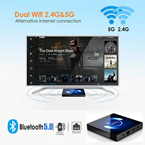 Android TV Box 10.0 mit Minitastatur 【4G+64G】 QPLOVE Q6 Smart TV Box mit Quad-Core H616 BT 5.0 WiFi 2.4G/5G/ 100M LAN, 6K Set Top Box Andorid 10.0 [2021 Neueste]