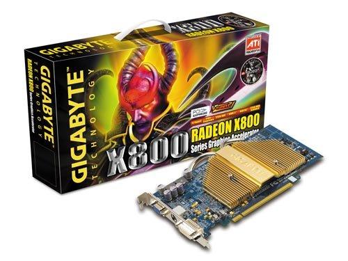 Gigabyte ATI Radeon X800 256 MB DDR3 256Bit Grafikkarte PCI Express (ATI Radeon X800 DDR 256Bit PCI-EX DVI/TVO Passiv Kühlung)