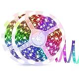 ZEYXINH Tira LED 10m, Tiras 5050 RGB LED con Control Remoto, Tiras LED Flexible que Cambia de Color IP65 a Prueba de agua Para Dormitorio, Cocina, TV, Fiesta, Habitacion, Decoración Navideña