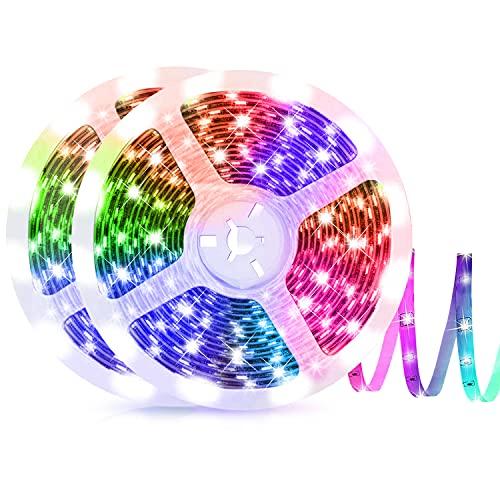 ZEYXINH Tira LED 10m, Tiras 5050 RGB LED con Control Remoto,...