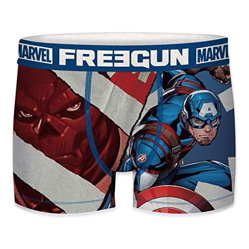 Freegun Marvel Avengers Capitán América - Calzoncillos para hombre Captain America 🎯 2020 XXL