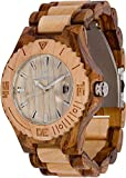 Maui Kool Wooden Watch Lahaina Collection for Men Women Unisex Analog Wood Watch Bamboo Box (2A - Maple and Zebrawood)