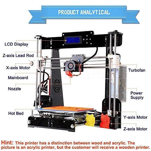 Tigtak A8 2018 Upgrade Calidad mejorada de alta precisión Impresora 3D Reprap Prusa I3 Kits de Bricolaje 220 * 220 * 240 mm con 3 Rollo de Filamento PLA