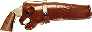 BlueStone Safety Western Leather Revolver Holster Fits 4 to 6 inch Barrel Revolvers Single Double Action Ruger Redhawk GP100 Colt Army 45 Long