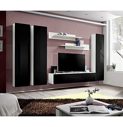 Banc TV - 6 éléments - Noir et blanc