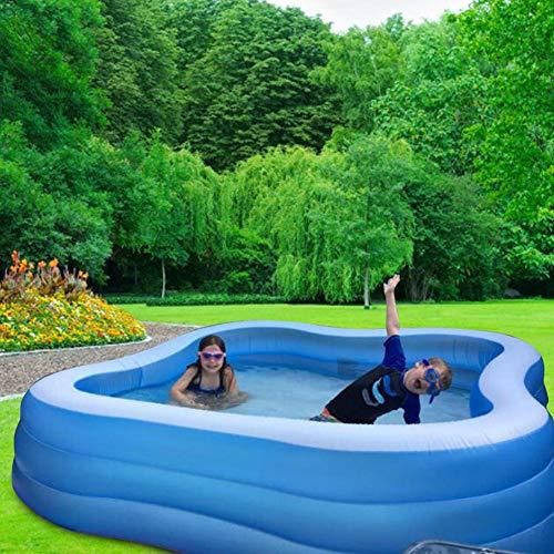 xlcukx - Piscina hinchable - Gran Family Pool - Swim Center Family Piscina infantil - Piscina rectangular para niños, jóvenes y adultos, para jardín convencional