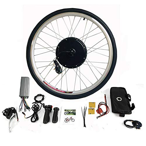"MINUS ONE Elektrisches 28"" Fahrrad-Umbausatz E-Bike Conversion Kit Elektrofahrrad Kit Hinterrad Elektrofahrrad Motor Umbausatz (36V 500W)"