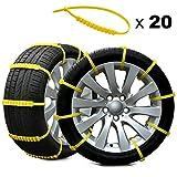 Rupse Catene da neve di emergenza universali utilizzate per pneumatici da 145 mm-265 mm, 20 pezzi,...