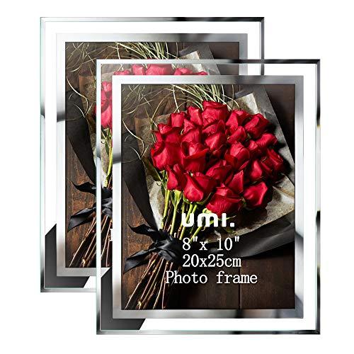 Amazon Brand - Umi Glas Bilderrahmen 20x25CM zum Aufstellen,für Baby Fotos Familienfotos und Hochzeitsfotos, 2er-Set