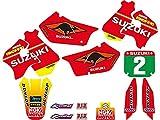 Blackbird Pegatinas para moto cross Replica Team Suzuki 1998 Suzuki Rm 125 1996-1998 / Suzuki Rm 250 1996-1998 /