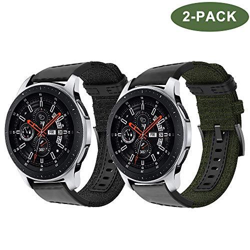 TOPsic Armband Galaxy Watch 46mm/Gear S3 Classic/Gear S3 Frontier Armband Metall, 22mm Ersatz Uhrenarmband Solide Edelstahl Nylon Armband Quick Release Armbänder