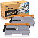 7Magic TN2220 TN2010 Cartucho de Tóner Compatible, para Brother MFC-7360N MFC-7460DN DCP-7055 DCP-7060D DCP-7065DN HL-2240 HL-2130 HL-2132 HL-2135W HL-2240 HL-2250DN (Negro, 2-Pack)