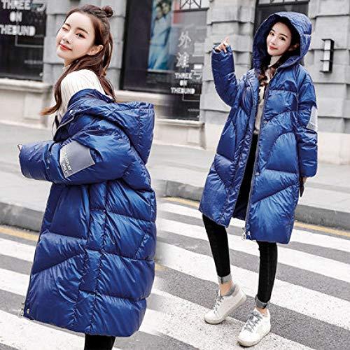 DPKDBN donsjack, lange eendendonsjas vrouwen met capuchon losse dikke warme lichte kleur donsjas vrouwen waterdichte jas