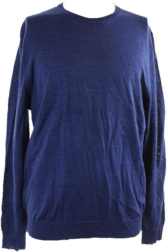 Club Room Men's Solid Color Merino Wool Blend Crew-Neck Sweater