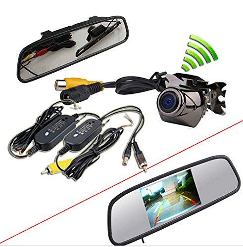 BW® Kit rétroviseur à écran TFT LCD 10,9 cm et caméra de recul étanche sans fil