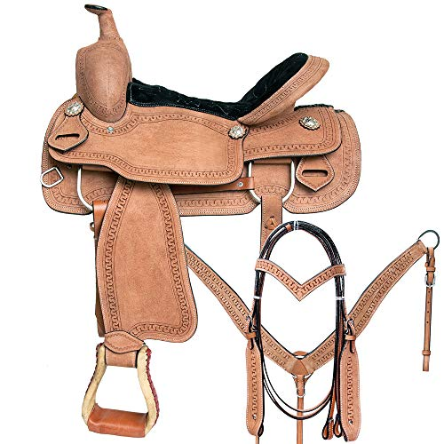 Great American 17 in Western Horse Saddle Leather Trail Pleasure Tack Set