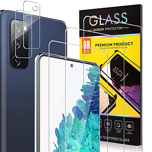 MMY Galaxy S20 FE Screen Protector [3 Packs] + Camera Lens Protector [2 Packs],Tempered Glass Screen Protector for Samsung Galaxy S20 FE 5G/4G,9H Hardness,HD Ultra-Thin (Clear)