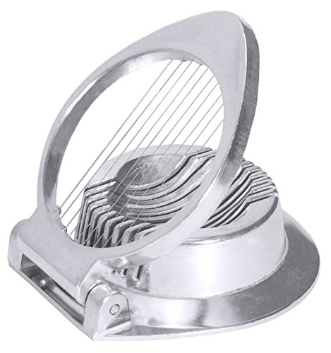 Eierschneider aus Aluminium, zum Längs- und Querteilen hartgekochter Eier, schwere Qualität / Scheibendicke: 4 mm, Ø außen: 11 cm   ERK