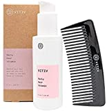 VITIV Daily Hair Vitamin Leave In Conditioner Hair Vitamins Featuring Chia Seed Oil & Sacha Inchi Oil All Natural, Vegan, Silicone Free Includes Comb 4oz