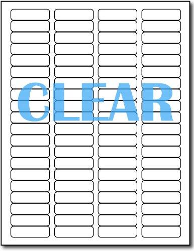 Crystal Clear Return Address Labels for Laser Printers - 1/2' x 1 3/4' - 80 per Sheet - 800 Labels