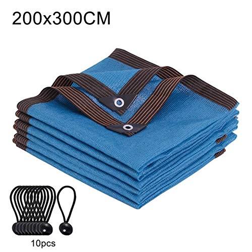 L.Z.HHZL Sail Shade Protector Solar 90% Pantalla de Tela Cortina de Sun del Refugio de Tela Yard Flor compensación con Ojales for pérgola Cubierta de Copas (Color : M, Size : Azul)