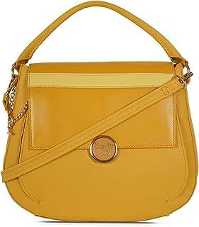 Baggit Women's Saddle Handbag (Yellow)