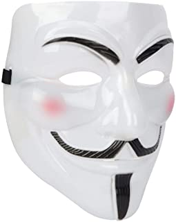 GUGELIVES Anonymous Guy Mask White