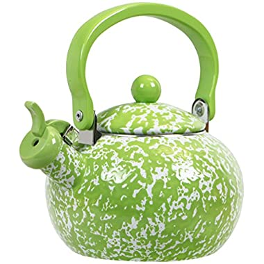 Calypso Basics by Reston Lloyd Whistling Teakettle, 2 quart, Lime Marble