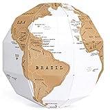 WRMING DIY Mapa del Mundo Mapa Mundi de Rascar - ¡Rasca los Lugares a los Que Viajes! 3D Globo Terráqueo Notas de Viaje