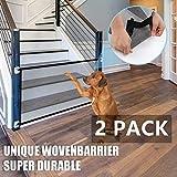 Valla De Seguridad para Perros 2 PCS, Red De Aislamiento Plegable Barrera Portátil para Mascotas Valla De Valla Protectora Utilizada para Escaleras Dormitorio Cocina Entrada