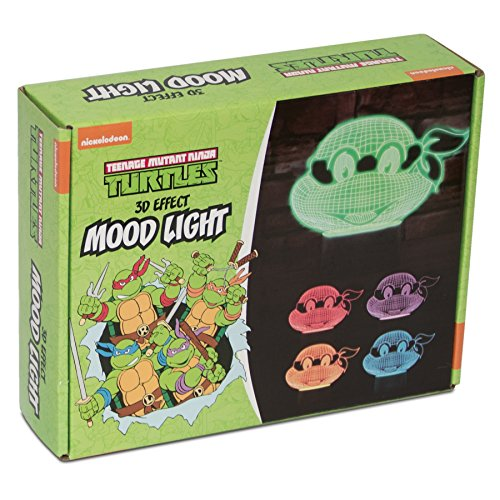 Nickleodeon TMNT 3D Effect Mood Light, Multi-Colour