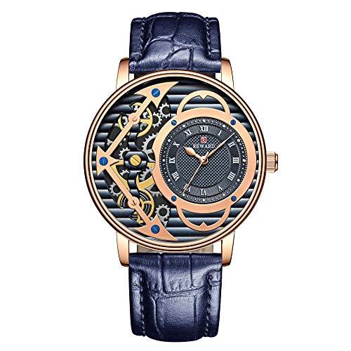 Relojes de Pulsera de Negocios de Moda de Cuarzo clásico analógico para Hombre-D