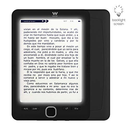 Woxter Scriba 195 Paperlight Black - Lector de Libros electrónicos de
