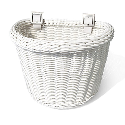 Colorbasket Junior Front Handlebar Bike Basket - White