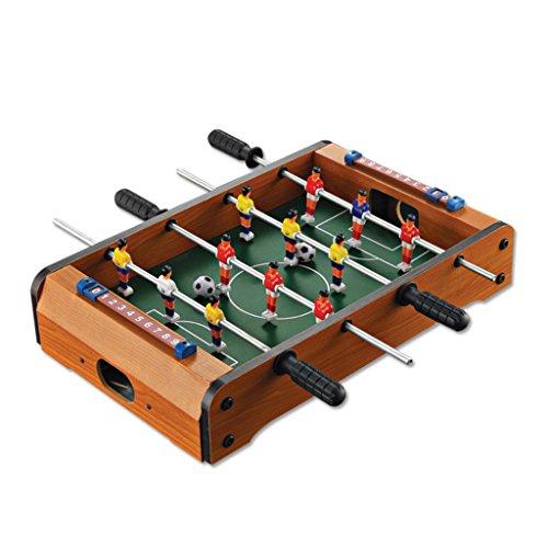 Chunse Mini-Desktop-Fußball, 6-Bar-Familie Fußball Desktop-Spielwaren Adult Football Sport Board, Holzfußball Spielzeug Kind Pädagogische Spielzeug Spiele