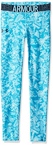 Under Armour Under Armour Mädchen Leggings HG Novelty, Deceit/High-Vis Yellow (439), YXL, 1331674