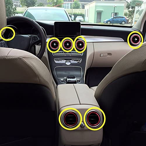 Red Phoenix Mall Mail order cheap Inner Air Vent Outlet Trim Cover C for Benz 7pcs Class Ring
