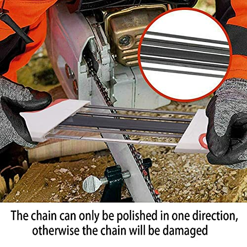 Kenshopping 2-in-1 4.0mm Easy File Chainsaw Chain Sharpener for Stihl Pitch 3/8