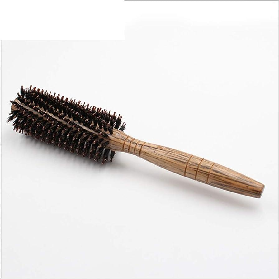 愛撫あざ狐女性のためのヘアブラシラージフラワーコーム - 24cmの長さ - ヘアブラシ女性は、スタイル、カール、およびドライヘアに吹く乾燥中に使用される木製のハンドルとカーリー&Stragight髪の櫛 (サイズ : M)