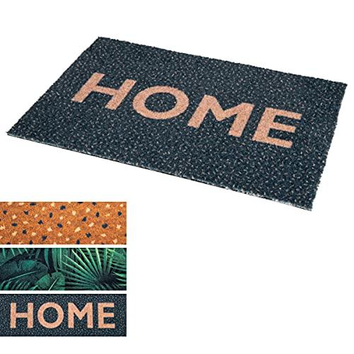 Fußmatte Kokosmatte - Studio M OPTIBRUSH - Fußmatte 40x60 - Fussmatte Home - Kokos Fussmatte - Kunsthandwerkliche Fussmatte, aus Kunststoff - Fußmatte mit Text