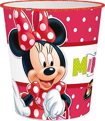 Joy Toy 72288 Poubelle Minnie de Plastique, Multicolore, 21x21x23 cm